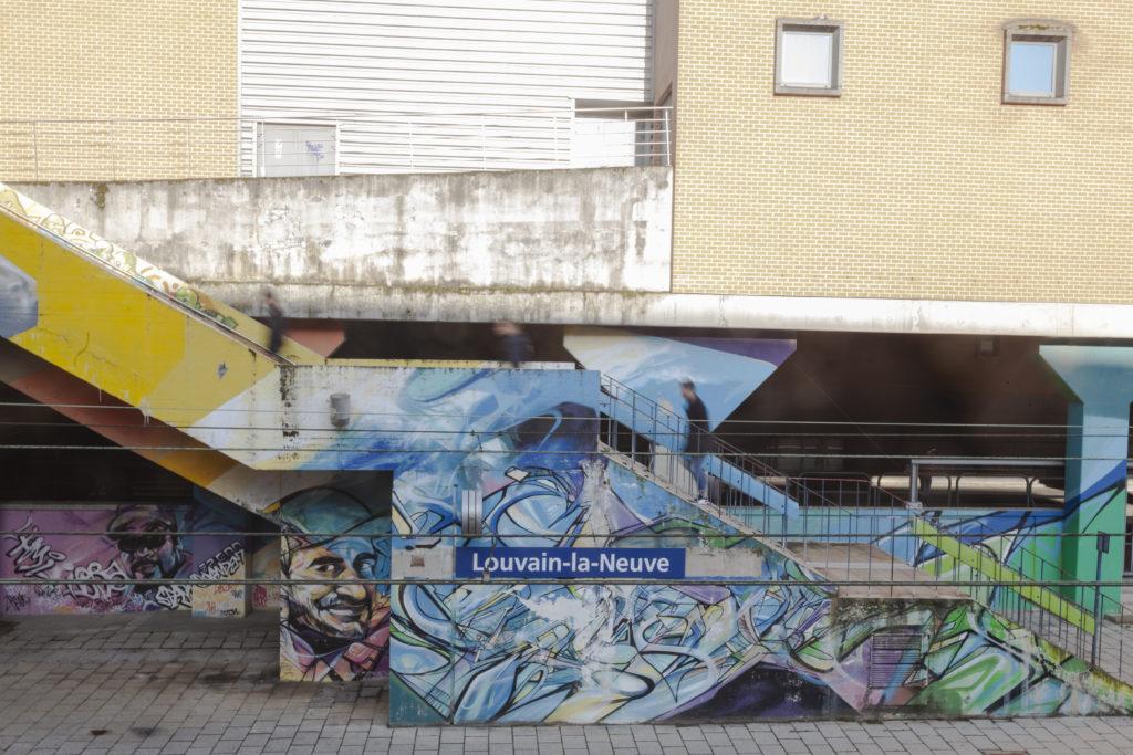 gare louvain la neuve graffiti