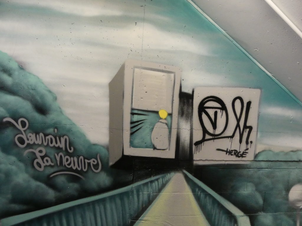 graffiti louvain la neuve musée hergé